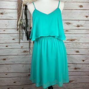 Express Ruffle Layer Cinch Chiffon Sun Dress